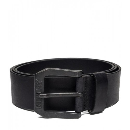 REPLAY ΑΝΔΡΙΚΗ ΔΕΡΜΑΤΙΝΗ ΖΩΝΗ AM2417.000.A3001.098 LEATHER BELT WITH SQUARE BUCKLE